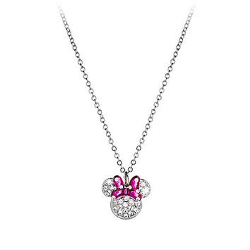 Minnie Mouse Icon Bow Necklace by Arribas | Disney Store