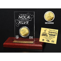 Super Bowl XLVII Champions Gold Etched Acrylic