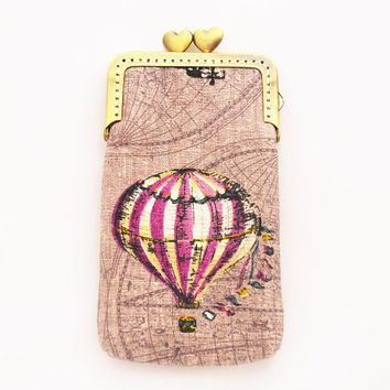 iPhone sleeve gadget case Hot Air Balloon Iphone case purple ( iPhone 5s iPhone 5c,Samsung Galaxy S4)