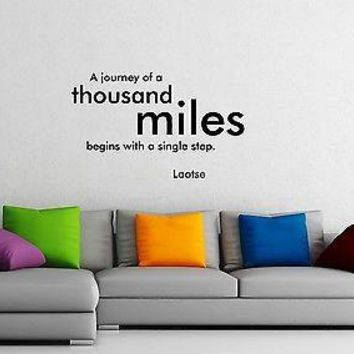 Wall Sticker Vinyl Decal Laotse Quotes Cool Design for Living Room Unique Gift (ig1200)