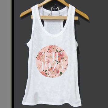 The 1975 Band Floral Logo for Tank top Mens and Tank top Girls ZeroSaint custom