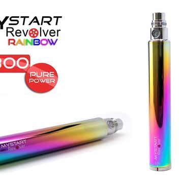 Mystart-Revolver 1300mah Variable Voltage eGo 1300mAh Battery,Joytec Twist,Twist Battery,SpinnerBlack-Steel-Blue-Pink
