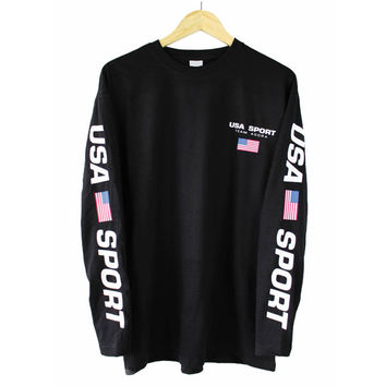 Agora USA Sport Long Sleeve T Shirt Tee