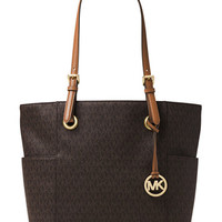 MICHAEL Michael Kors Signature Jet Set East West Large Tote | macys.com