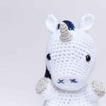 Blue Unicorn, Unicorn Plush, Unicorn Stuffed Animal, Unicorn Amigurumi, Unicorn Stuffed Toy, Crochet Unicorn, Unicorn Soft Toy