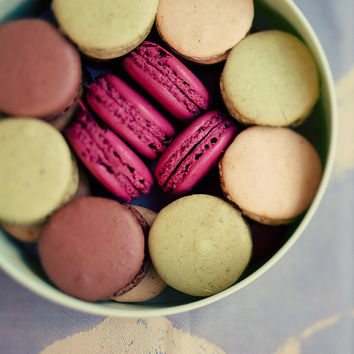 Let Them Eat Macarons Fine art food photograph by irenesuchocki