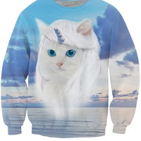 Unicorn Kitty Crewneck Sweatshirt