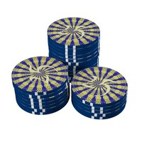 Blue & Yellow line from the middle pattern Poker Chips