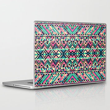 Pink Turquoise Girly Aztec Andes Tribal Pattern Laptop & iPad Skin by Railton Road | Society6