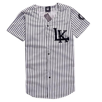 Free Shipping KNYEW 07 DXPECHEF 99 Stripe T-shirt Jersey Last King LK Hip Hop Men&Women Couples Tops Cotton T-shirts Tees
