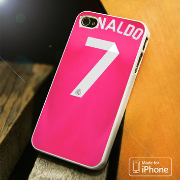Real Madrid Ronaldo CR7 Jersey Pink iPhone 4(S),5(S),5C,SE,6(S),6(S) Plus Case
