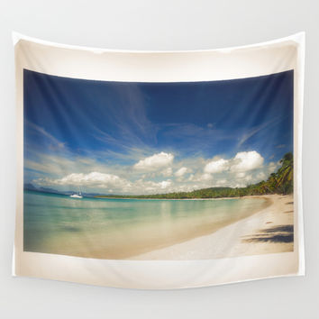 Tropical Island Wall Tapestry by Cinema4design | Society6