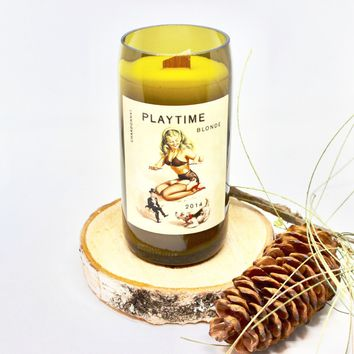 Playtime Blonde Wine Candle