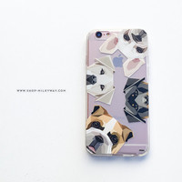 Clear TPU Case Cover for Apple iPhone - Dogs With Attitudes