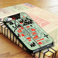 Twin Peaks Map iPhone 4 Or 4S Case