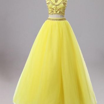 Sexy Dresses Tulle Backless Beading Rhinestones Sweet 16 Dress Party Gowns