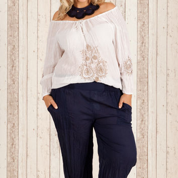 San Juan Pant in Navy (Plus Size)