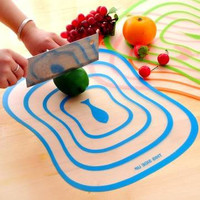 3Pcs Plastic Antibacterial Cutting Board - Frosted Translucent Chopping Board