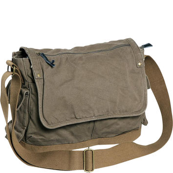 Vagabond Traveler Casual Style Canvas Laptop Messenger Bag - eBags.com