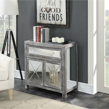 Convenience Concepts Gold Coast Vineyard Mirrored Cabinet | Overstock.com Shopping - The Best Deals on Coffee, Sofa & End Tables