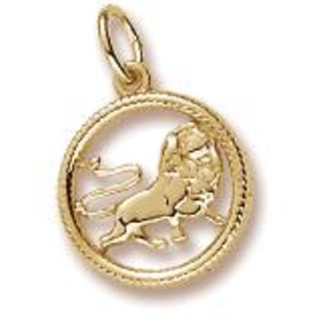 Leo Charm in Yellow Gold Plated