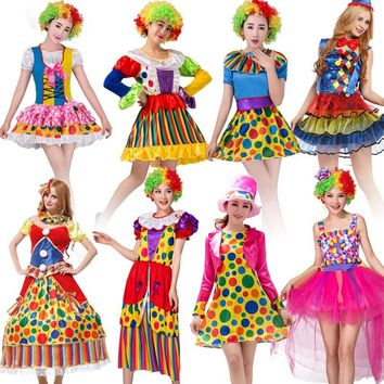 Umorden Halloween Purim Carnival Adult Woman Circus Clown Costume Women Harley Quinn Cosplay Costumes Clothing Fancy Dress