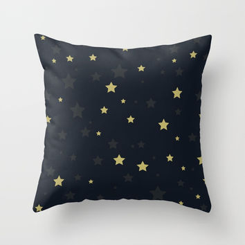 Stars II Throw Pillow by printapix