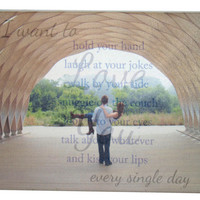 "Photo Quote Canvas Board 8"" x 10"", Custom Canvas Board, Custom Photo Canvas Board, Wedding Canvas, Family Canvas, Wedding Vows Canvas"