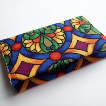 Fabric Business Card Case - Stained Glass