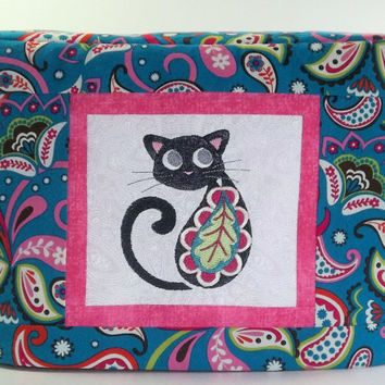 2 Slice Toaster Cover with Paisley Cat