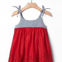 Gap Baby Mix Media Eyelet Dress