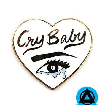 Cry Baby Heart Pin