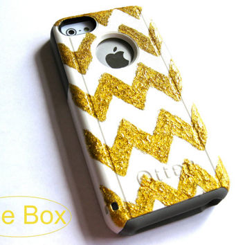 OTTERBOX iPhone 5C case, case cover iPhone 5C otterbox ,iPhone 5C otterbox case,otterbox iPhone 5C, otterbox,gold chevron otterbox case