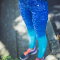 Ombre Workout Leggings in Navy