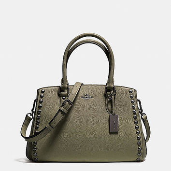 Empire Carryall in Lacquer Rivets Pebble Leather