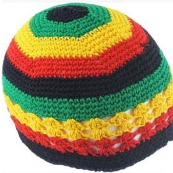 New Jamaican Rasta hat Bob Marley hat Jameican hat tams fancy dress costumes Crochet rasta beanies Gorro Bob marley cap