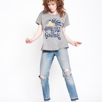 Hard Luck and Good Times Boyfriend Tee - Heather Grey