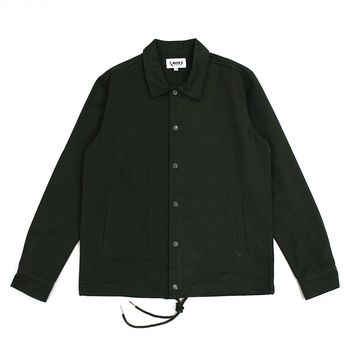 Andre Denim Coach Jacket (Olive Green)