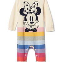 babyGap | Disney Baby Minnie Mouse crazy stripe sweater one-piece | Gap