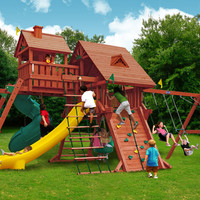 Playnation Colossal Kingdom Elite Wooden Swing Set