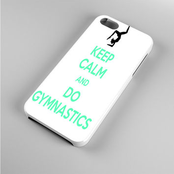 Keep calm and do Gymnastics Blue Text Iphone 5s Case