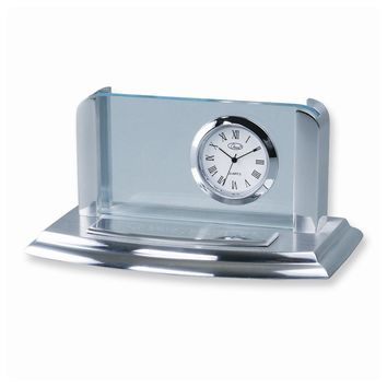 Business Card Holder Clock - Engravable Personalized Gift Item