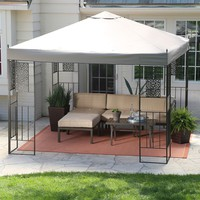 10-FT X 10-FT Backyard Patio Garden Outdoor Gazebo With Steel Frame & Vented Canopy