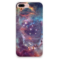iPhone 8 Plus Case, iPhone 7 Plus Case, CasesByLorraine Galaxy Space Stardust Purple Sky Slim Hard Plastic Back Cover for Apple iPhone 7 Plus & iPhone 8 Plus (I20 Style 2)