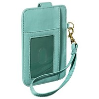 Cell Phone Wallet with Removable Wristlet Strap - Mint