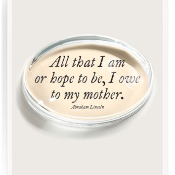 All That I Am Crystal Oval Paperweight