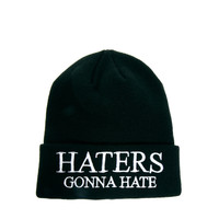 ASOS Tall Beanie Hat with Haters Logo