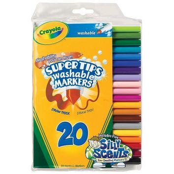WASHABLE MARKERS 20CT SUPER TIPS