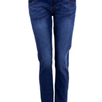 Three Button Front Skinny 5-Pocket Jeans