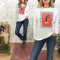 Vintage 1987 FLEETWOOD MAC In Concert Long Sleeved Shirt || Tango In The Night || Size Medium Mens Or Ladies Large